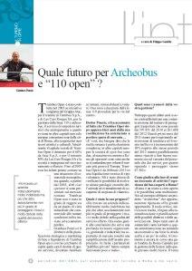 Quale futuro per Archeobus e 110 open? articolo in PDF