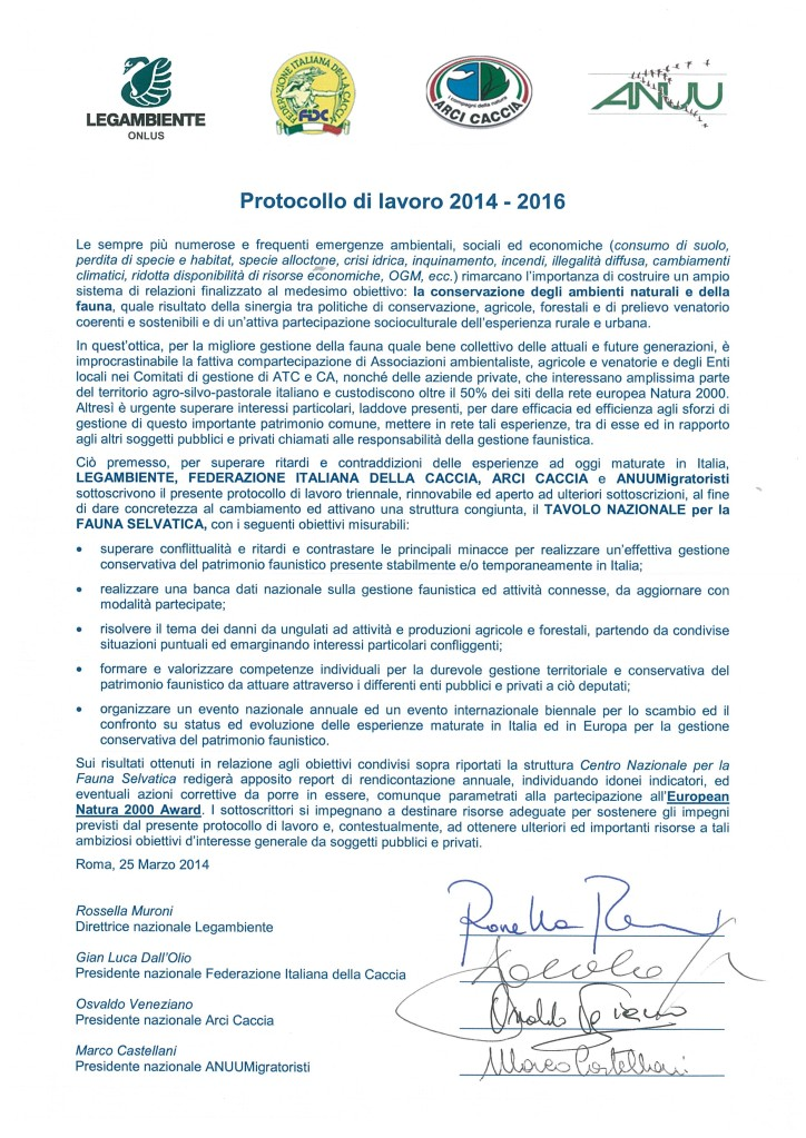 protocollo 2014-2016