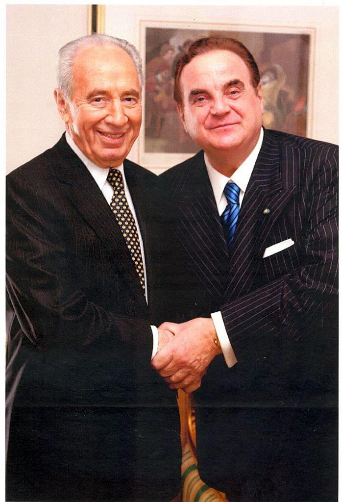 Shimon Peres con Giancarlo Elia Valori