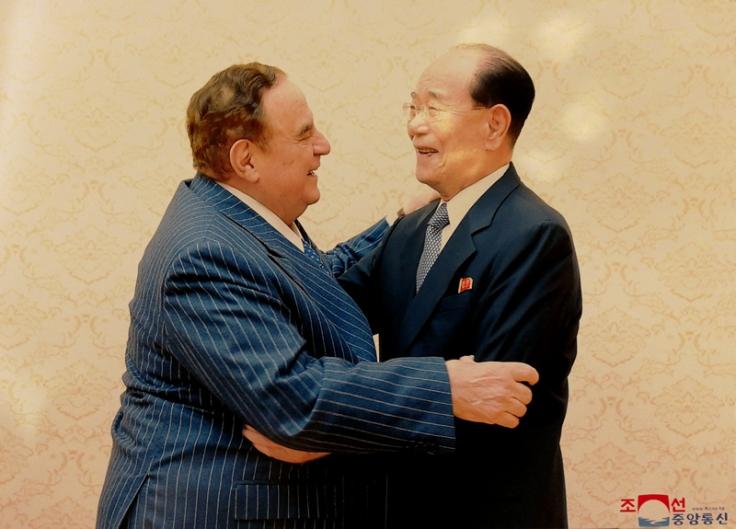 Giancarlo Elia Valori e Kim Yong-Nam