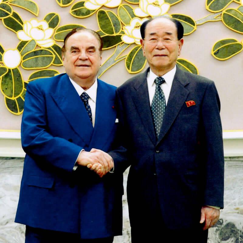 Giancarlo Elia Valori con Kim Yong-Nam - Presidente dell'Assemblea Suprema del popolo
